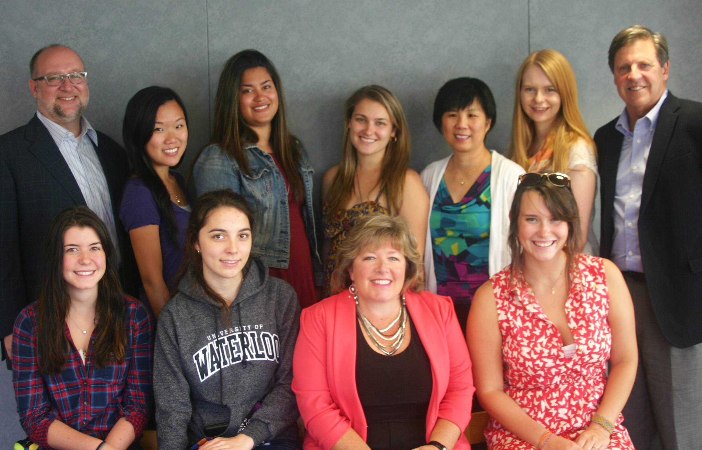 Charmaine Hammond third from left, Renison staff and students