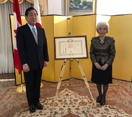 Keiko Belair, right, and the Consul-General of Japan,