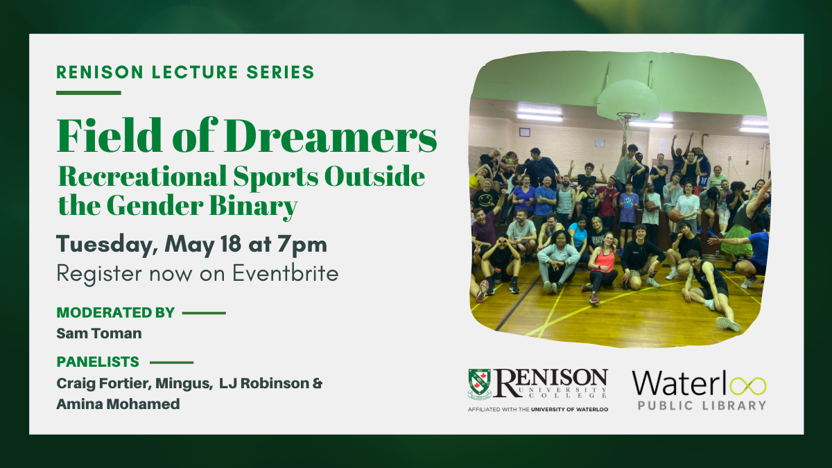 Event graphic, Field of Dreamers, May 18, 2021. Includes image of a team.