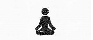 stick figure meditating