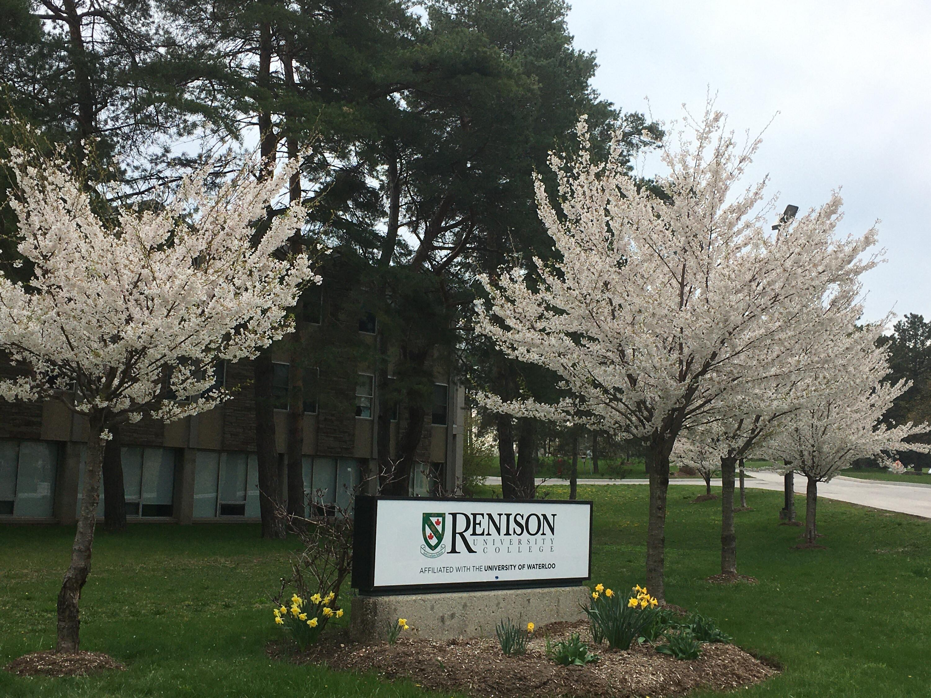 Renison sign with Sakura on either side.