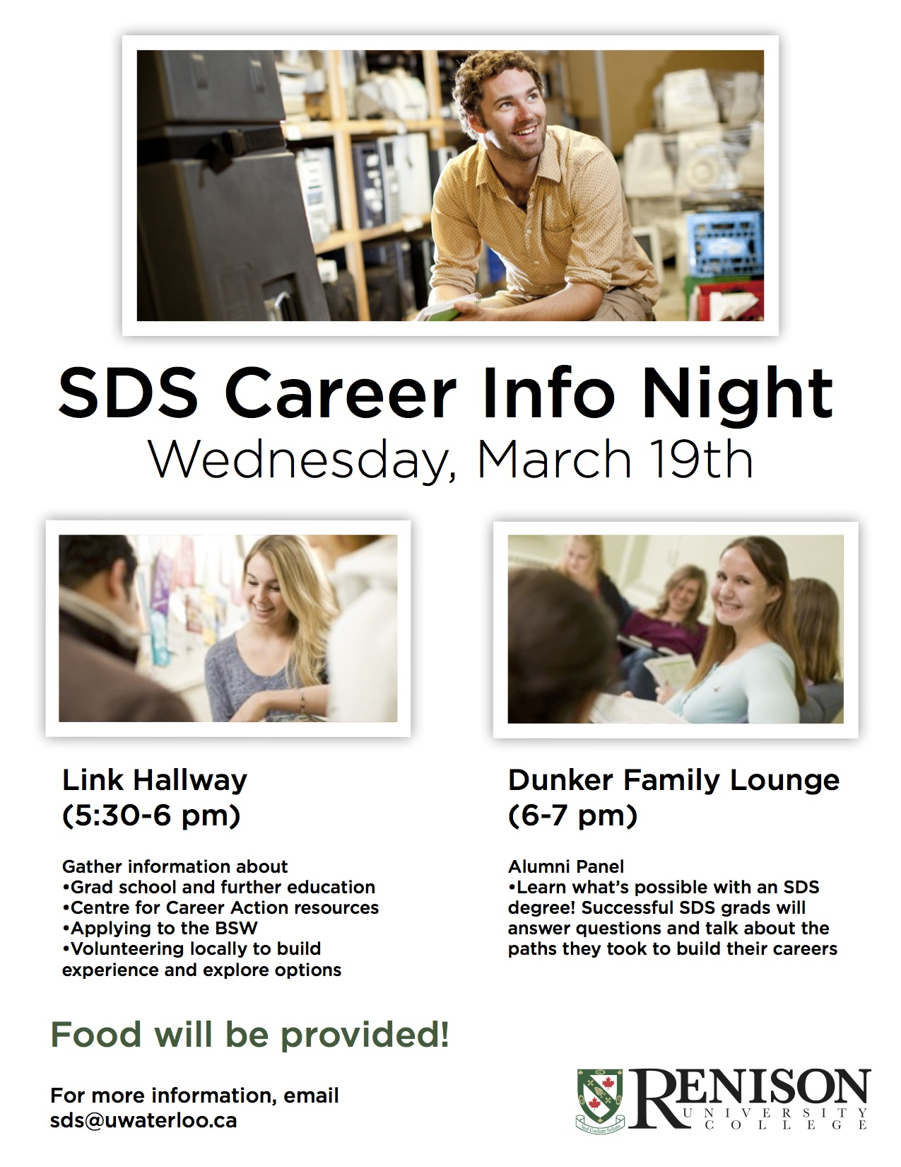 poster: SDS Career night