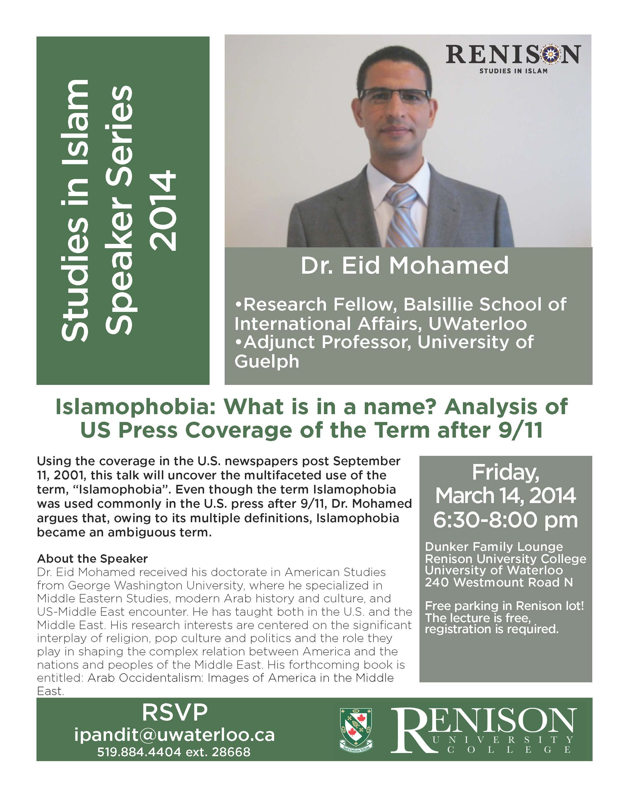 poster for SI Series: Islamophobia