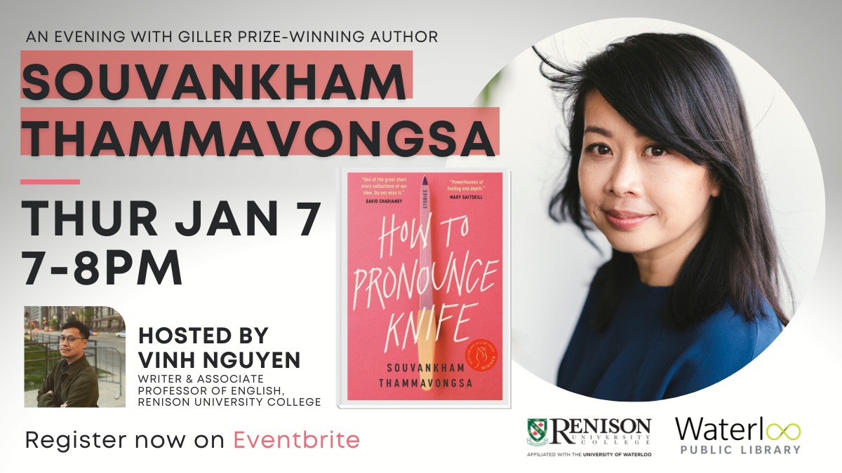 An Evening with Giller Prize winning author, Souvankham Thammavongsa