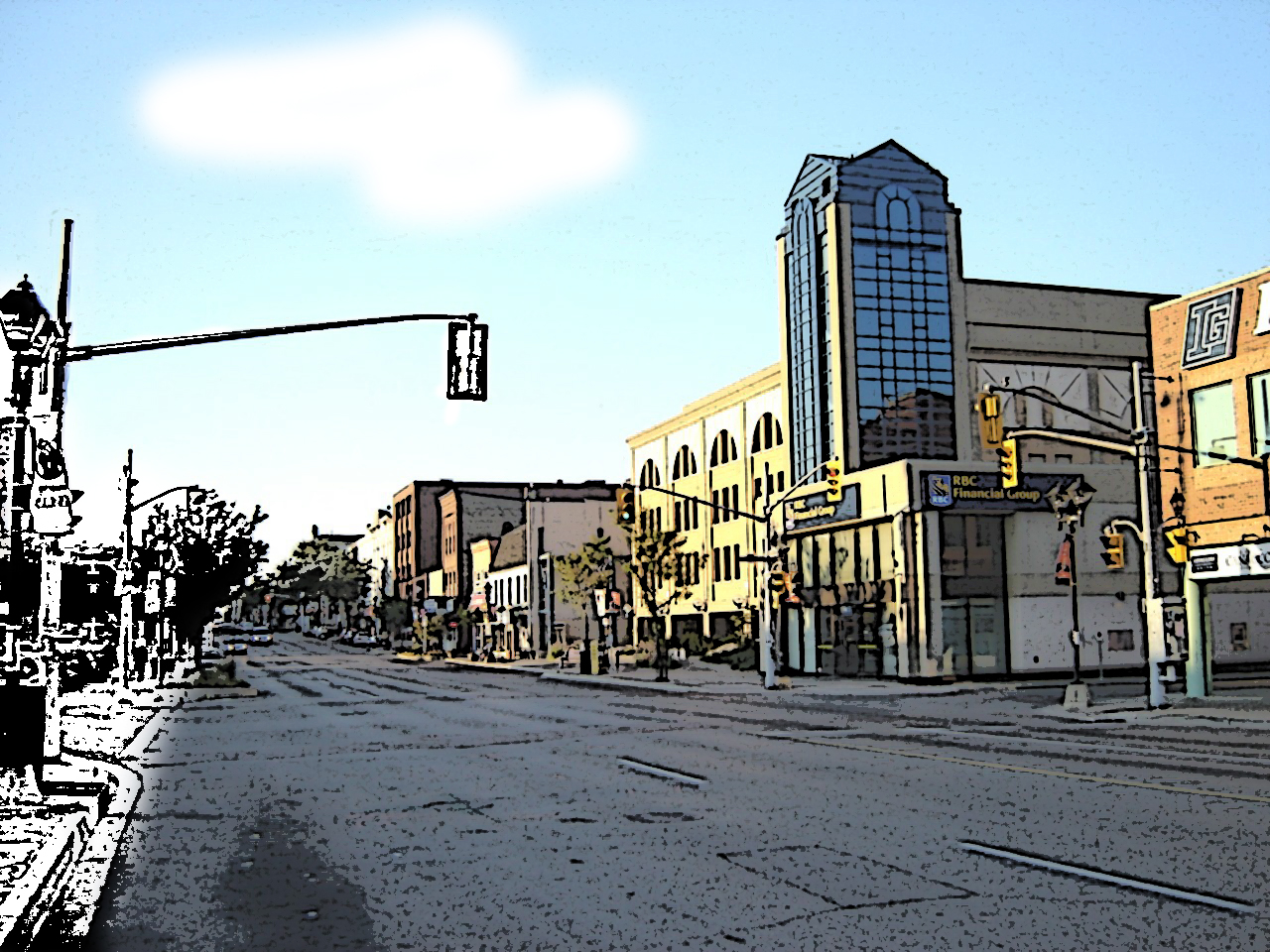 Sketch of Uptown Waterloo