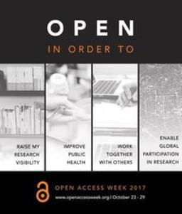 Open Access Day poster.