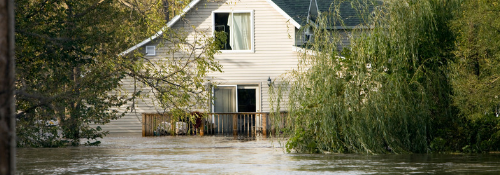 House flooded