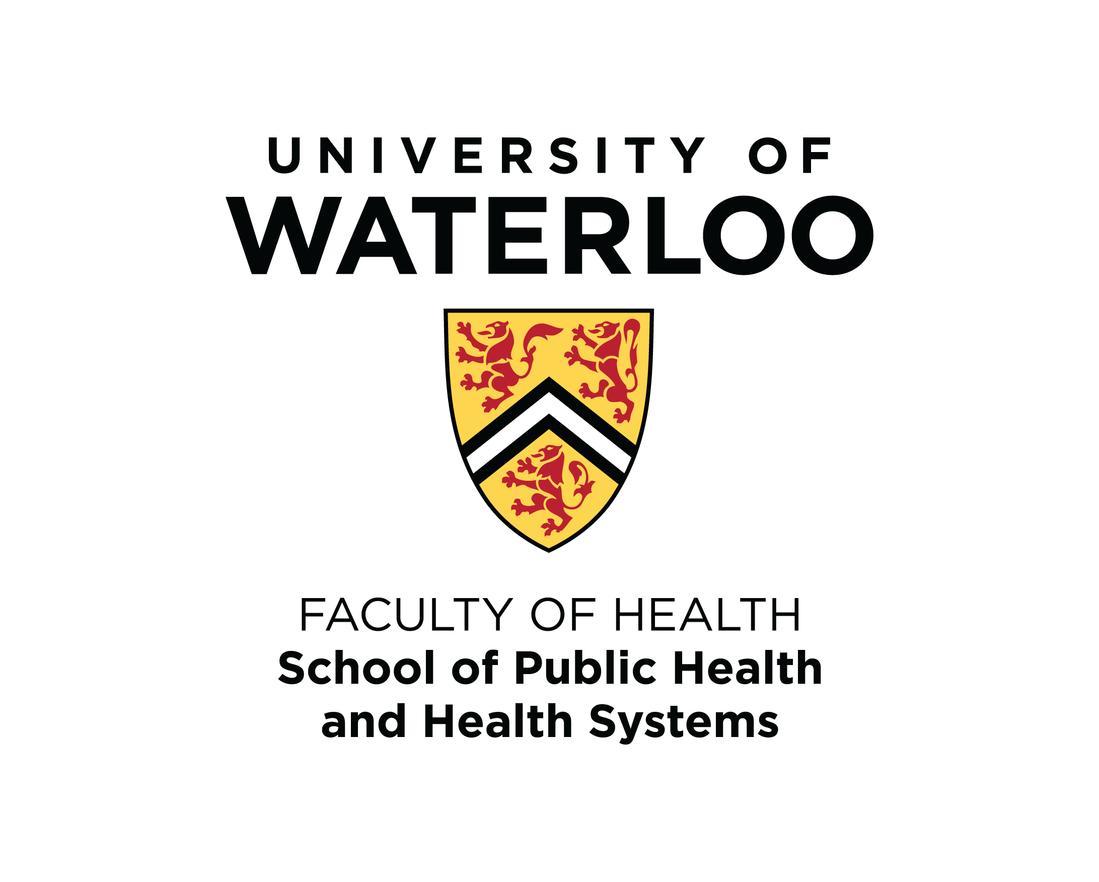 University of Waterloo School of Public Health and Health Systems logo.