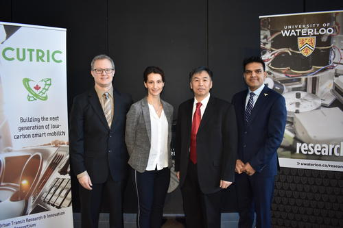 Professor Li with funders and Sanjeev Gill