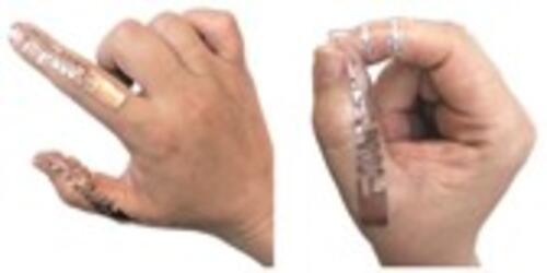 RFID Tip-Tap device as an on-skin tattoo