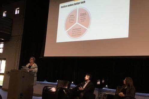 Professor Carla Fehr presents at the CRIT Summit