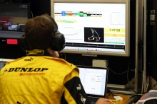 A Dunlop Motorsport engineer uses HH Timing during the 6 Hours of Spa race in Belgium.