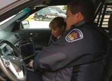 Police in cruiser