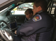 Brantford Police Services using HealthIM in police cruiser