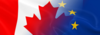 Canadian and European flags combined