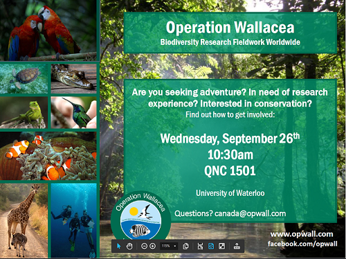 Operation Wallacea Poster