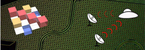 Micrograph of device used to generate microwave signals