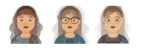 How the participants generally visualized, from left to right: Alexa, Google, Siri.