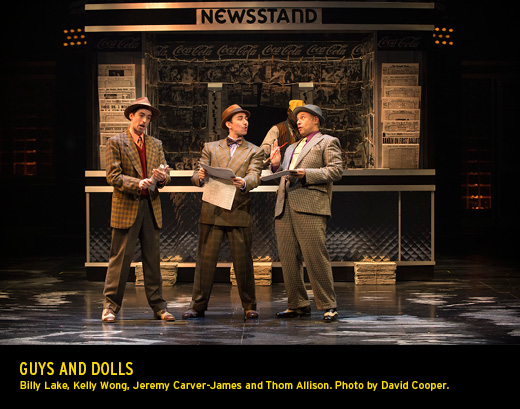 A scene from the play Guys and Dolls