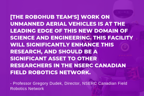 Quote about RoboHub from NSERC