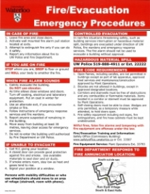 Fire evacuation procedures