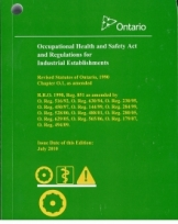 Occupational health and safety act and regulations for industrial establishments