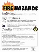 Residence fire hazards