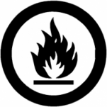 flammable combustable icon