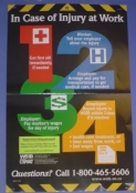 In case of injury at work - WSIB poster