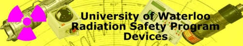 University of Waterloo radiation safety program devices