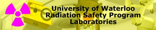 University of Waterloor radiation safety program laboratories