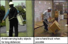 Use a hand truck when possible