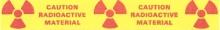 Radioactive warning tape