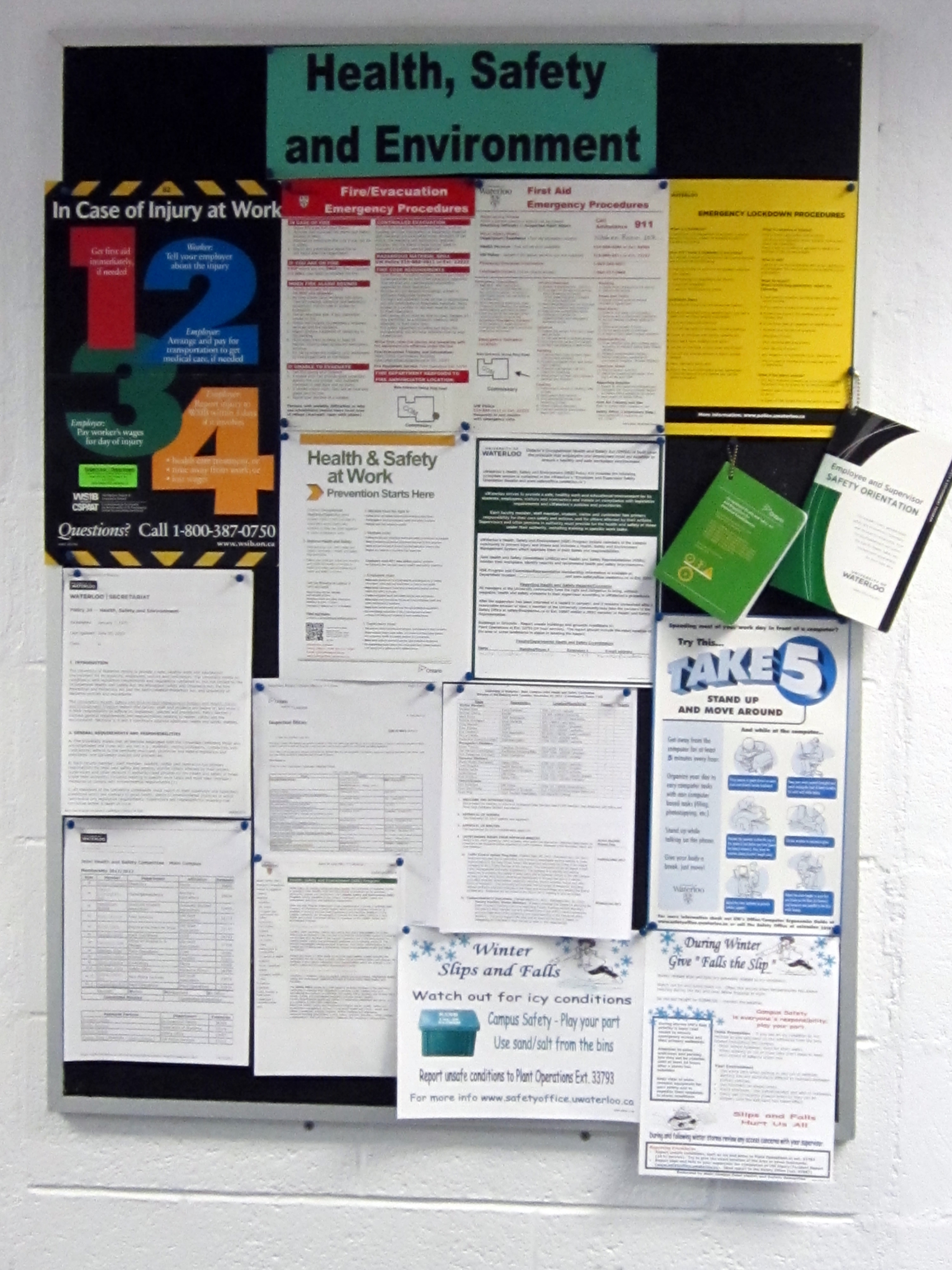 Posting Requirements Safety Office University Of Waterloo