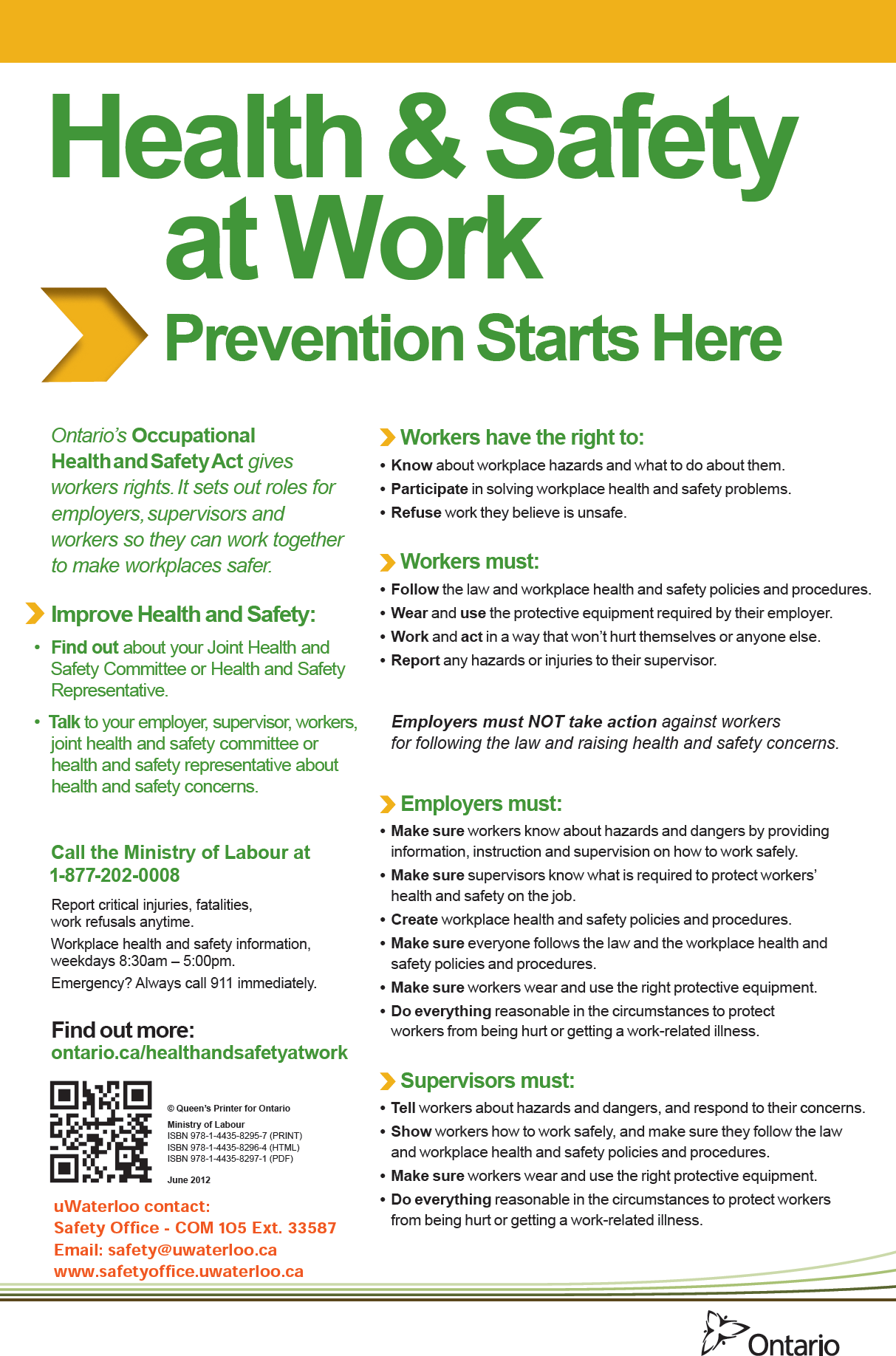 health and safety at work prevention stars here poster