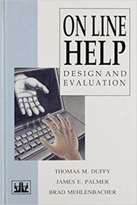 Book cover of Online Help: Design and Evaluation