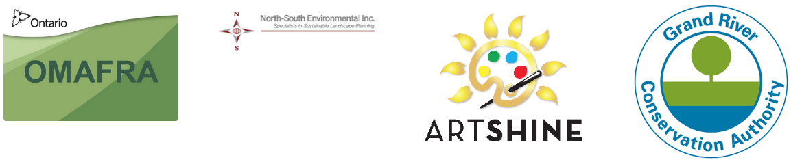 OMAFRA, North-South Environmental Inc, Artshine, GRCA logos