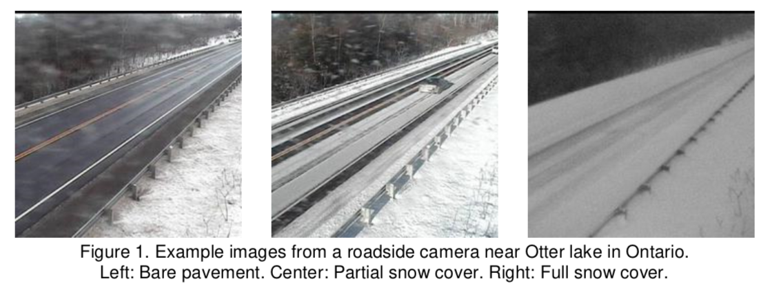 Example Image of Levels of Snow Road Cover