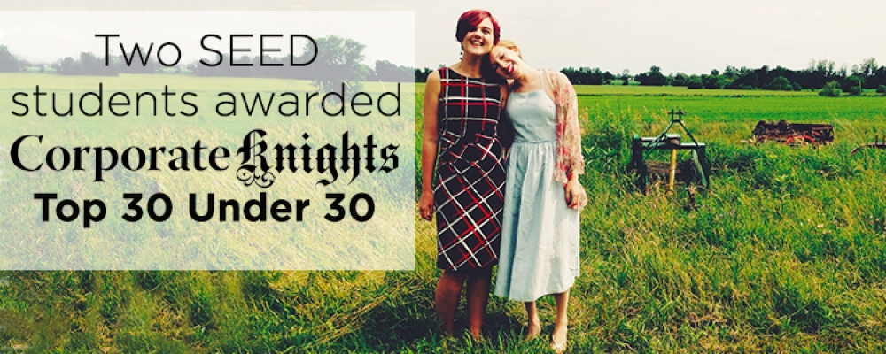 SEED Students Tahnee and Dana in a field together