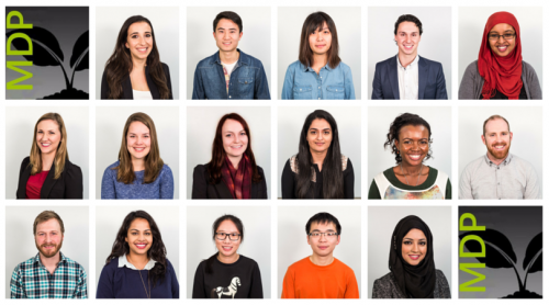 headshots of current cohort of students