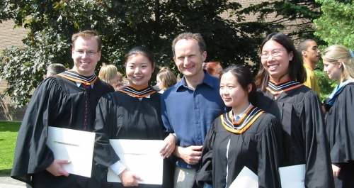 Paul Parker and graduating students