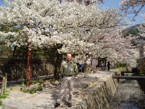 Paul Parker on the Philosopher's Walk in Kyoto