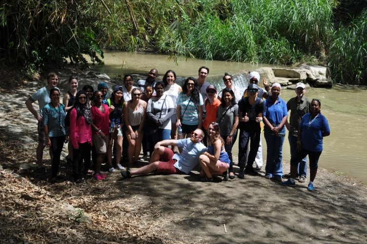 MDPers and Trinidadian Participants of the Integrated Water Resource Management workshop on a field visit in Guanapo, Trinidad