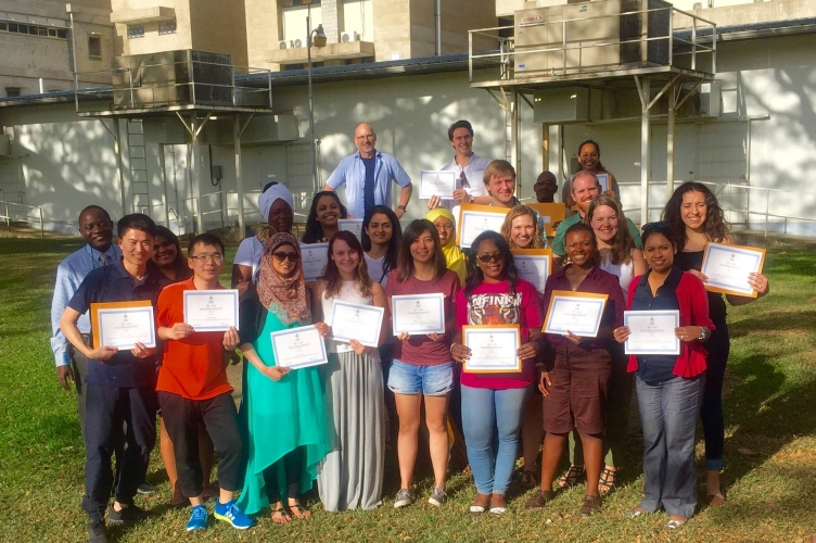 MDPers and Trinidadian Participants present their certificates at the end of the Integrated Water Resource Management workshop