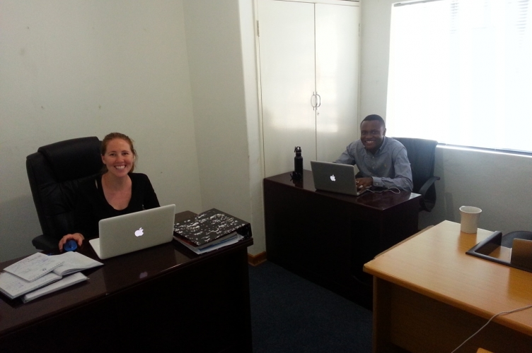MDPers are all smiles in botswana at the BONASCO office