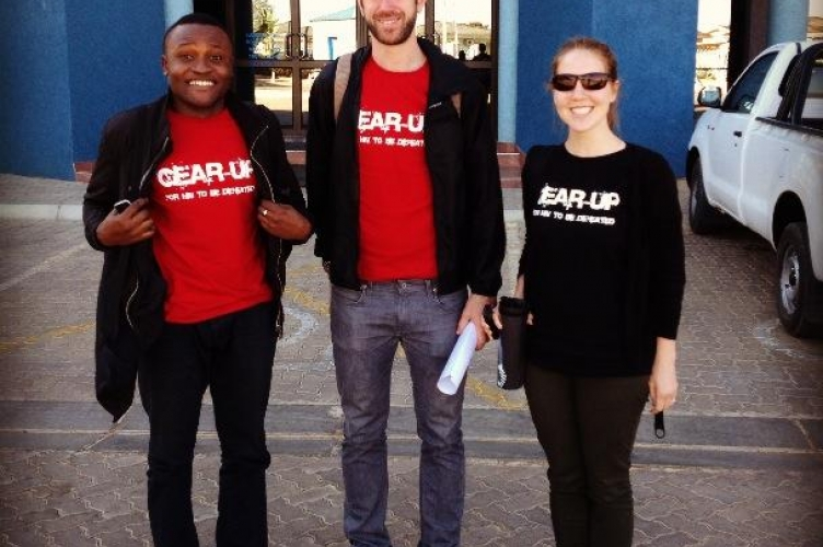 MDPers wear the GEAR-UP for HIV to be defeated campaign tshirts at the Tertiary Education Council