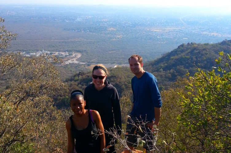 Visiting nearby Kgale Hill for a view of Gaborone