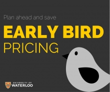 Plan ahead and save with early bird pricing