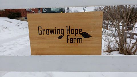 Growing Hope Farm sign