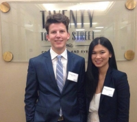 Fineas and Rebecca at the 2015 InvestYoung Stock Pitch Competition, Toronto, Ontario